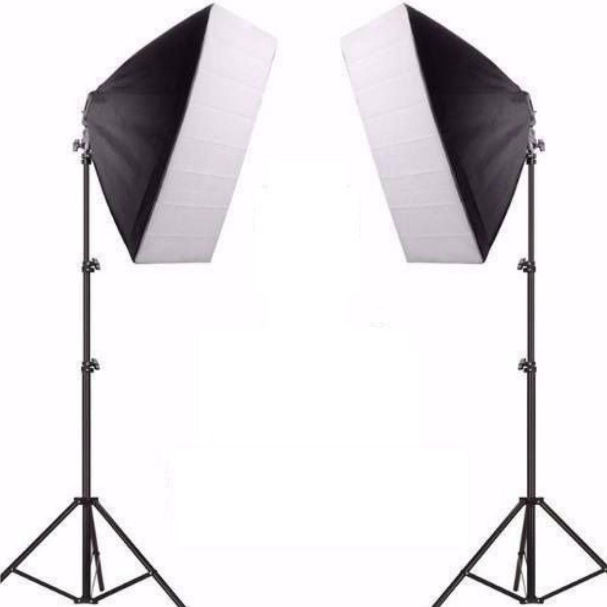 Kit Iluminação De Estúdio Fotográfico Atena Com 2 Softbox 50x70 - PKSB01 110V