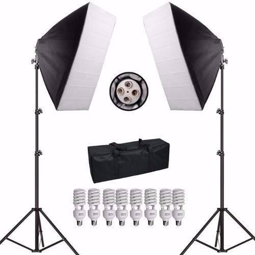 Kit Iluminação De Estúdio Fotográfico Atena Com 2 Softbox 50x70 - PKSB45 220V