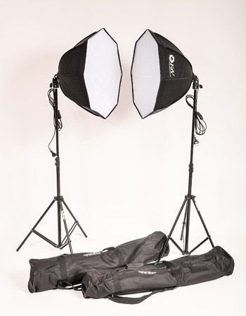 Kit Iluminação Estúdio Fotográfico Softbox Octagonal - Ágata 3 220v