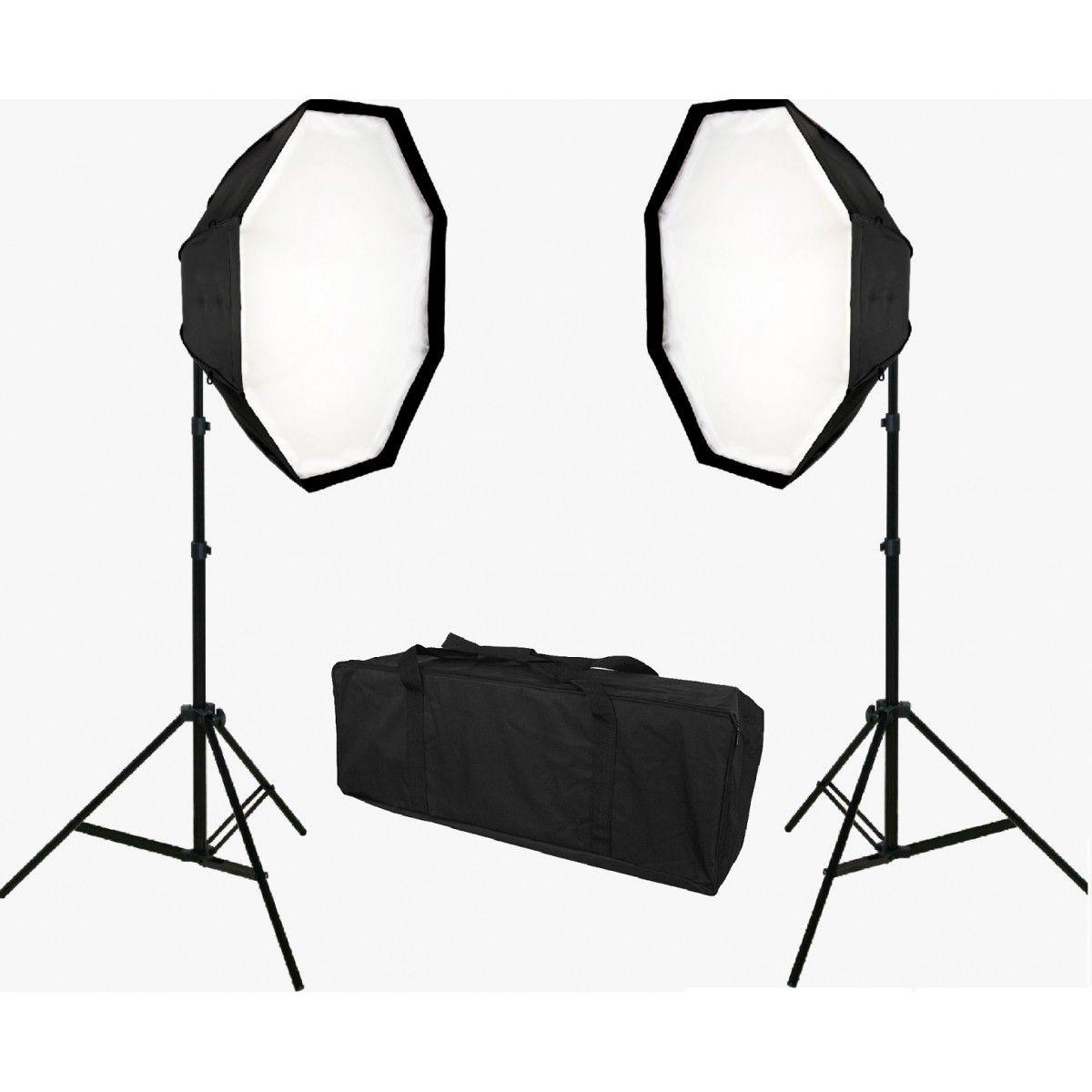 Kit Iluminação Octagonal de Estúdio Com Led 210W - OCTA400