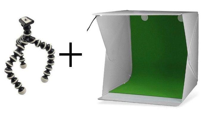 Kit Mini Estúdio + Tripé Gorila Para Câmera - Instafold + SM816