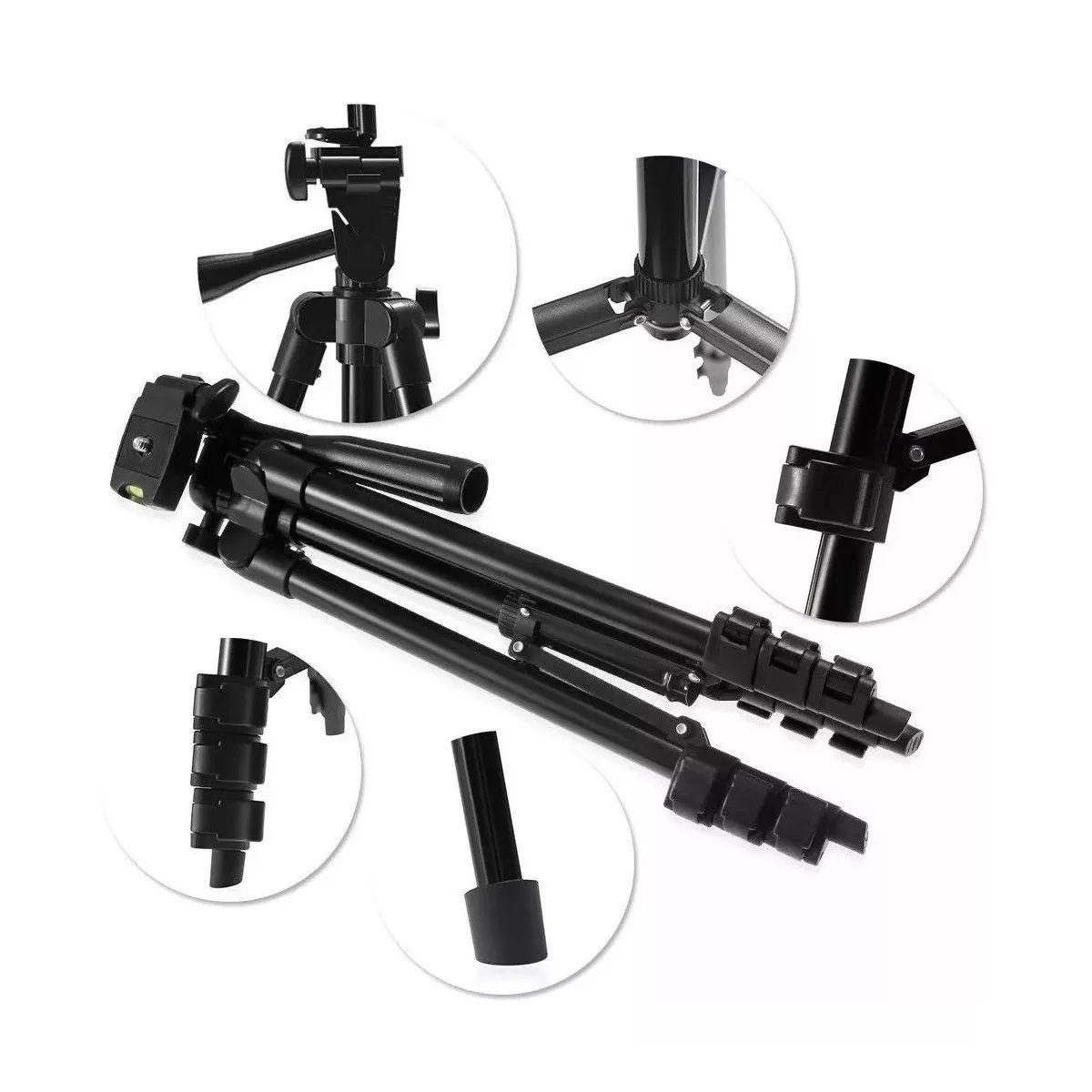 Kit Mochila Para Câmera Profissional + Tripé Telescópico Profissional 1,2m - VMB II + SL-2111H