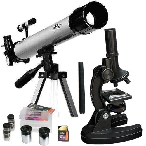 Kit Telescópico Vivitar De Refração 60x/12x E Microscópio - Vivtelmic30