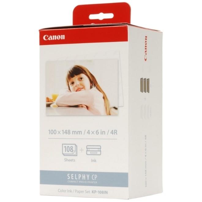Cartucho E Papel Fotográfico Para Impressoras Canon Linha Selphy - KP108IN