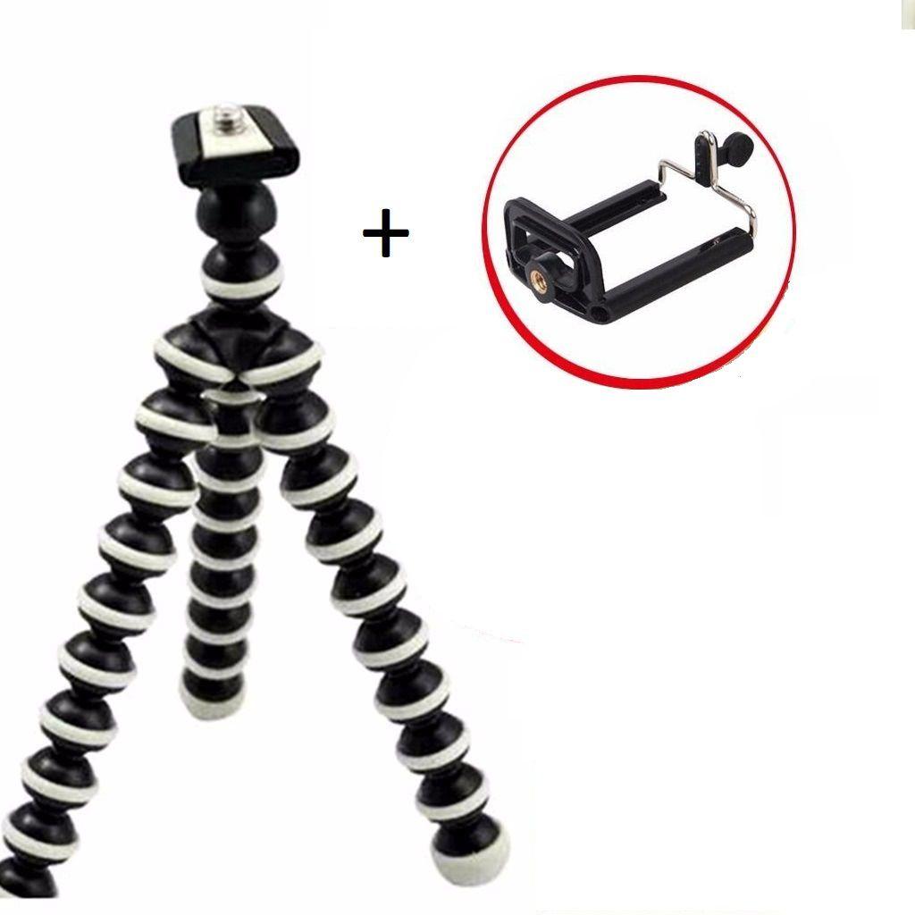 Kit Para Fotografia Tripé Gorila + Suporte Celular + Controle Disparador De Foto