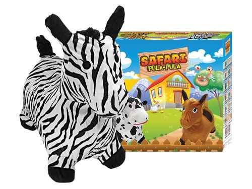 Kit Pula Pula Infantil Safári Com Zebra E Tigre De Pelúcia Para Crianças - Upa Upa