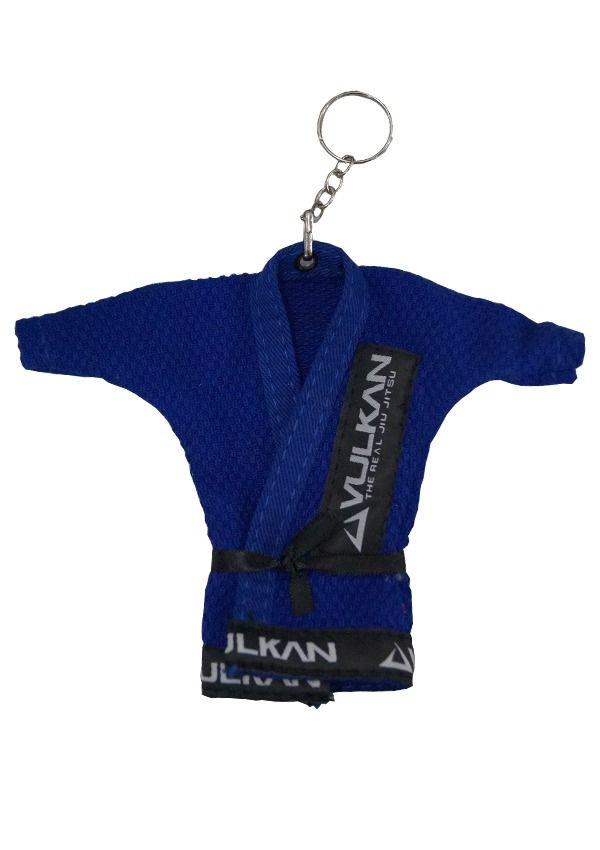 Chaveiro Kimono Jiu Jitsu Azul Royal Vulkan + Adesivo Vulkan