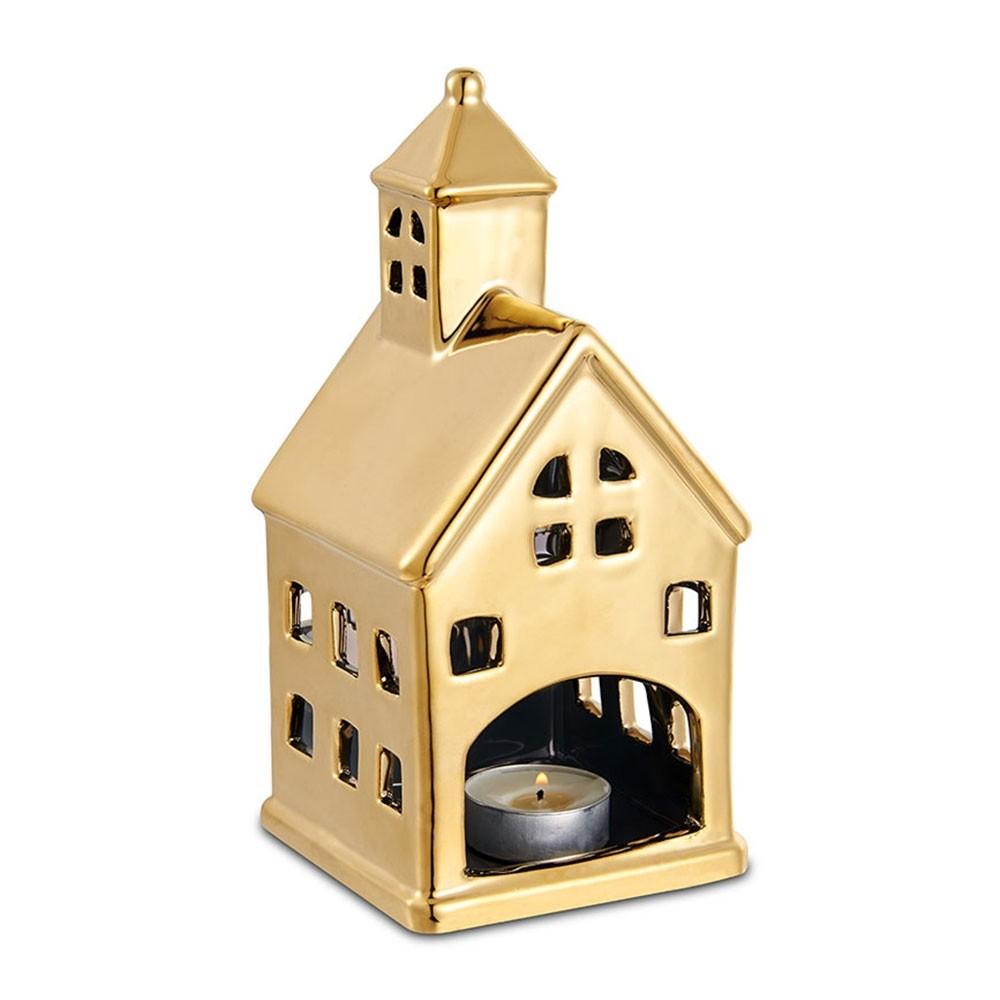 Lanterna Casa Dourada 10 x 20,5 CM Bencafil - 64081