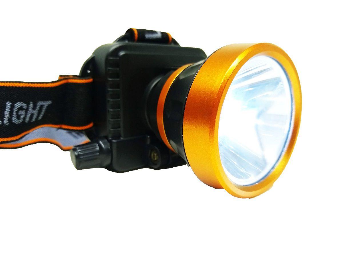 Lanterna De Cabeça LED Inclinável Com Elástico - 1598-6T
