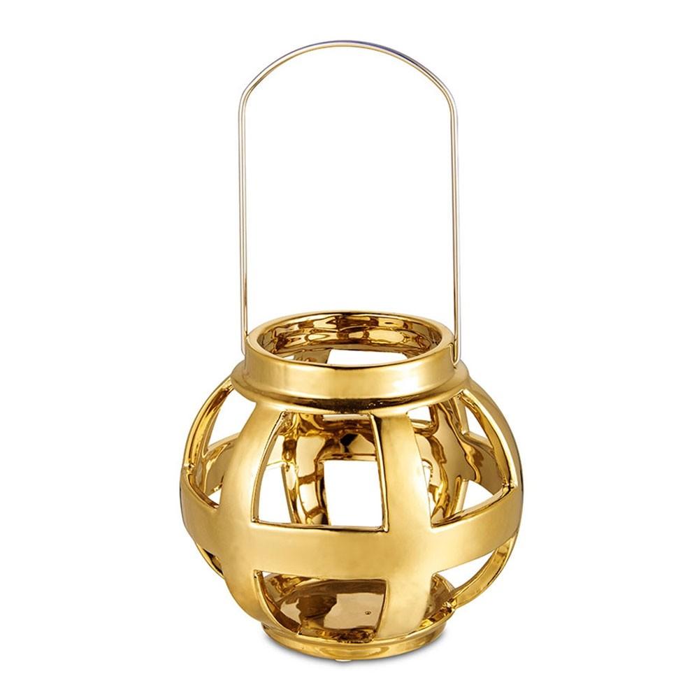 Lanterna Dourada 15 X 13,5 CM Bencafil - 64071
