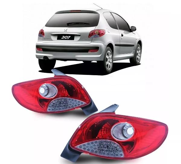 Lanterna Traseira Peugeot 207 Hatch 2007 A 2011 Original Valeo