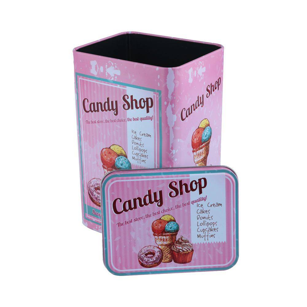 LATA METAL KITCHEN CANDY SHOP ROSA - 40118
