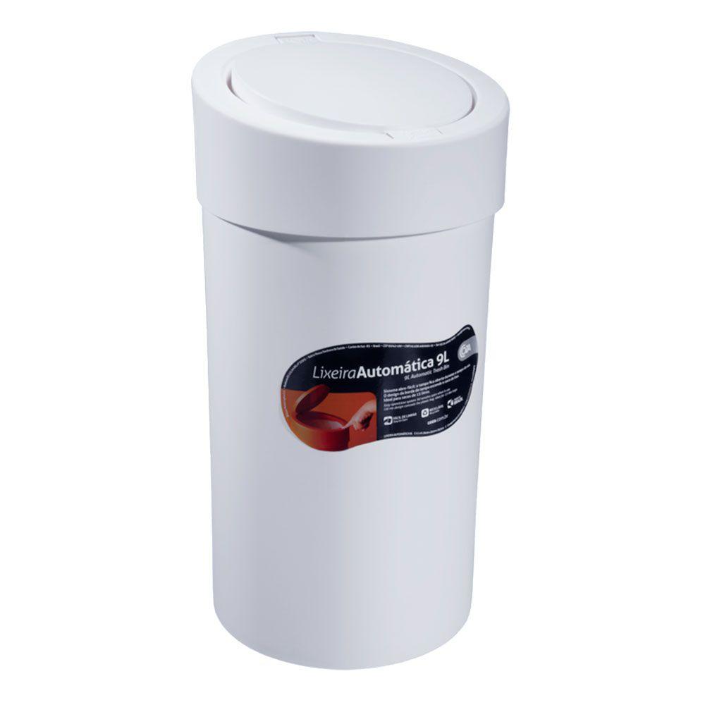 Lixeira Coza Automática 9l Branca - 10909-0007