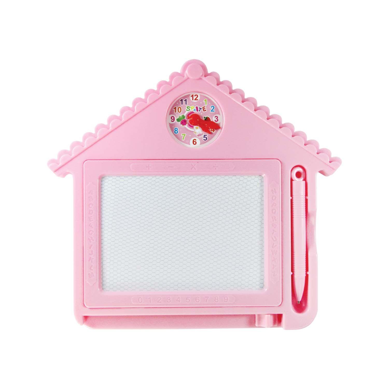Lousa Mágica Com Reloginho Estático Rosa Para Meninas - TK-901 ROSA