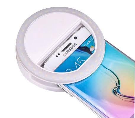Luz de Self Celular Ring Light 3 Níveis Potencia Bateria Recarregável - MPLED-8