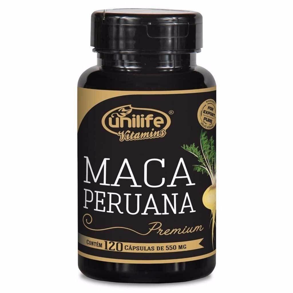 Maca Peruana Premium 100% Pura 550mg - 120 Cápsulas Original - Natueu