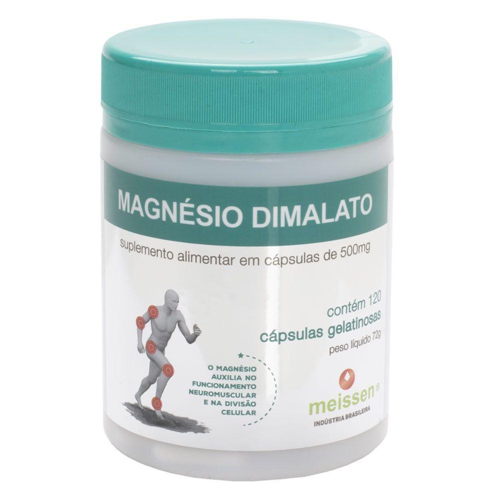 Magnésio Dimalato Puro  120 Cápsulas Gelatina Meissen - Natueu