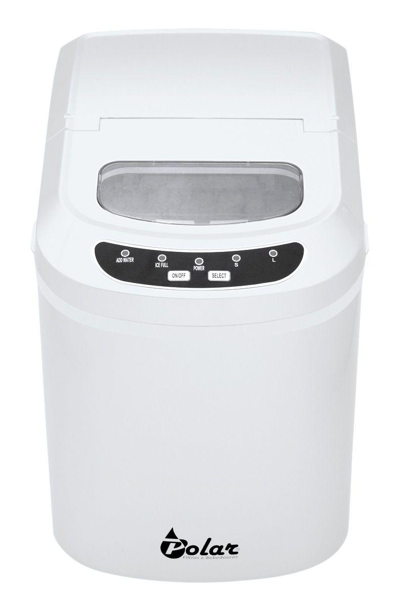 Maquina De Gelo Polar branca 12Kg 110v - NI3000A