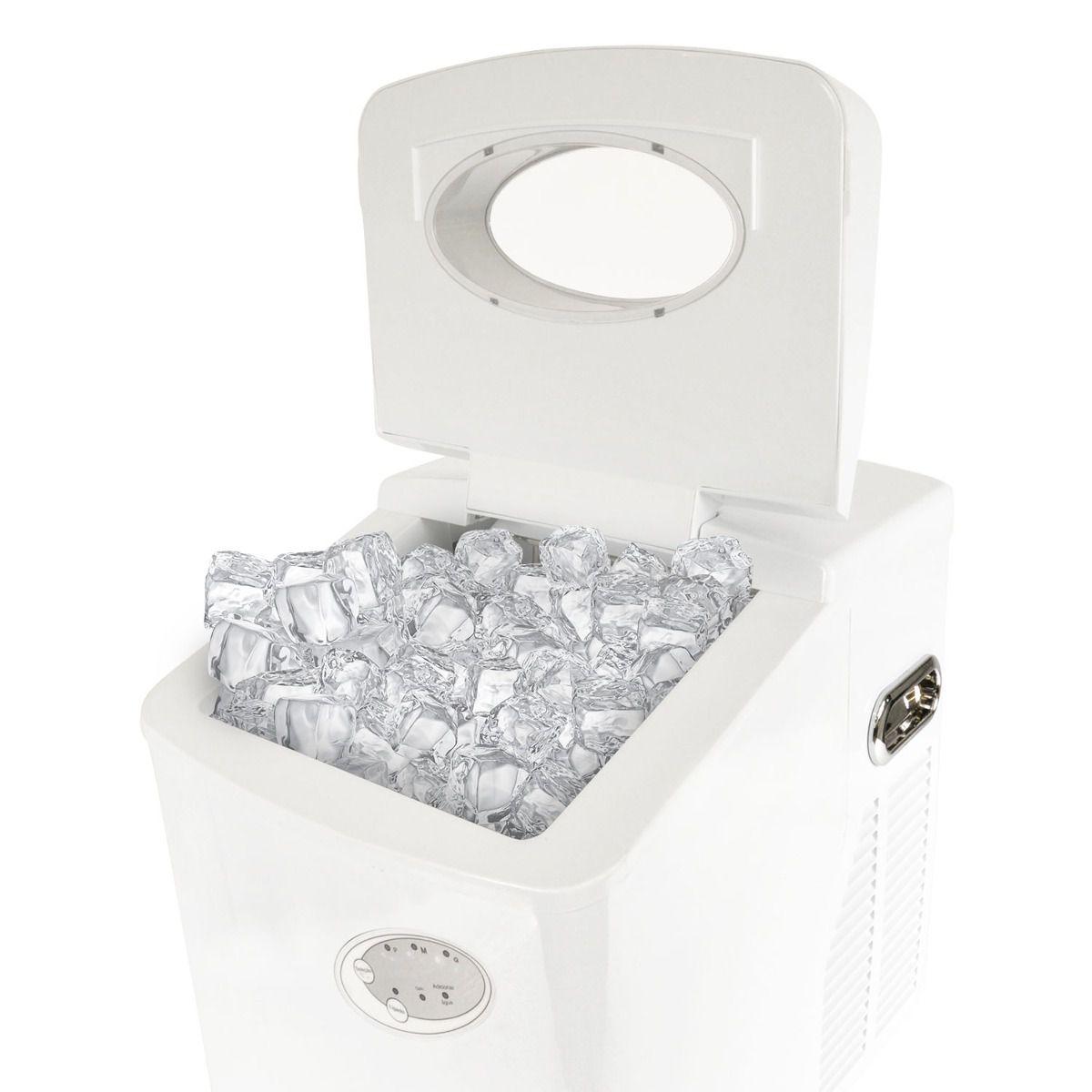 Maquina De Gelo Polar Produz 22Kg Por Dia - Branca NI6000C 220v