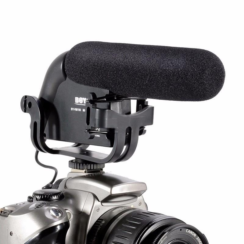 Microfone Boya Profissional Condensador Direcional Para Câmeras - BY-VM190