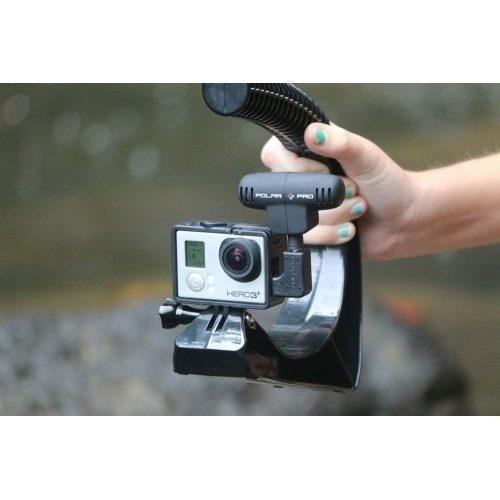 Microfone Externo PolarPro Promic E Adaptador Para Câmera GoPro - Pmic-234