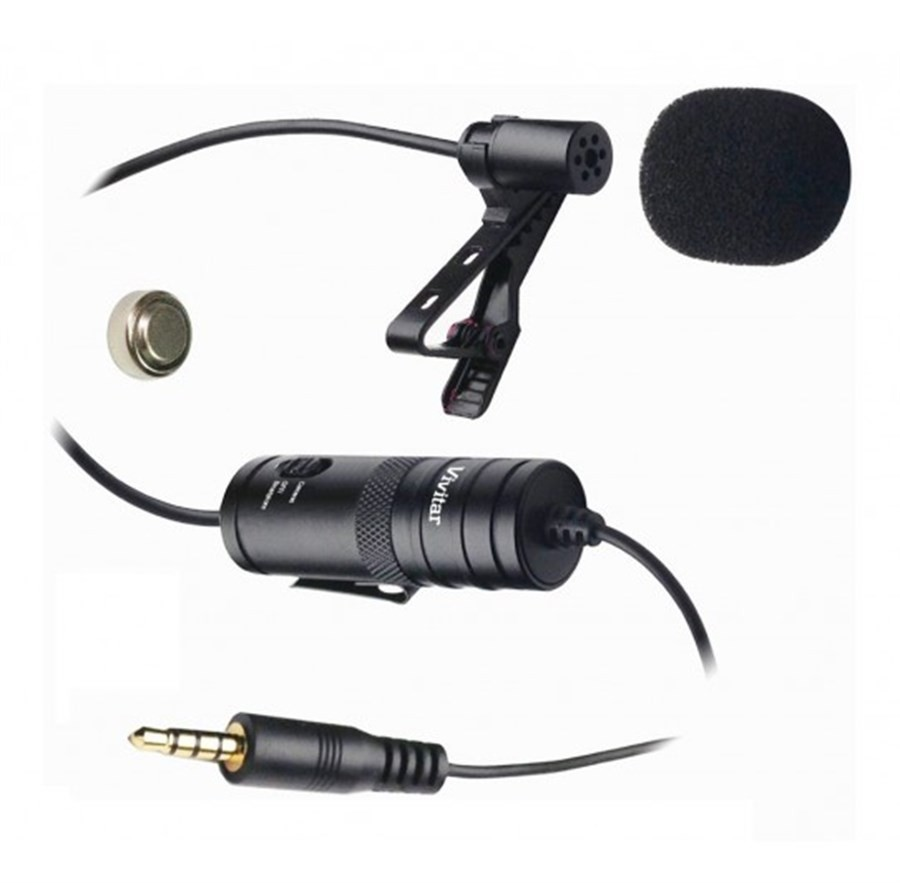 Microfone Lapela Para Câmera DSLR, Câmeras de Ação ou Smartphone VIVMIC-903