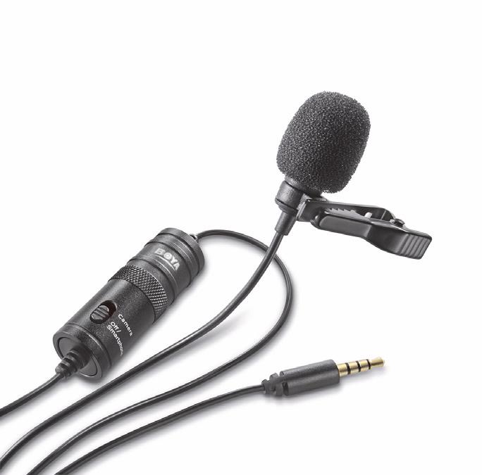 Microfone Lapela Para Câmera DSLR, Câmeras de Ação ou Smartphone - VIV-MIC903