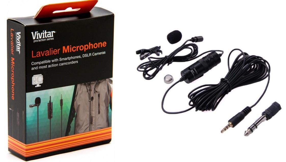 Microfone Lapela Para Câmera DSLR, Câmeras de Ação ou Smartphone VIV-MIC903