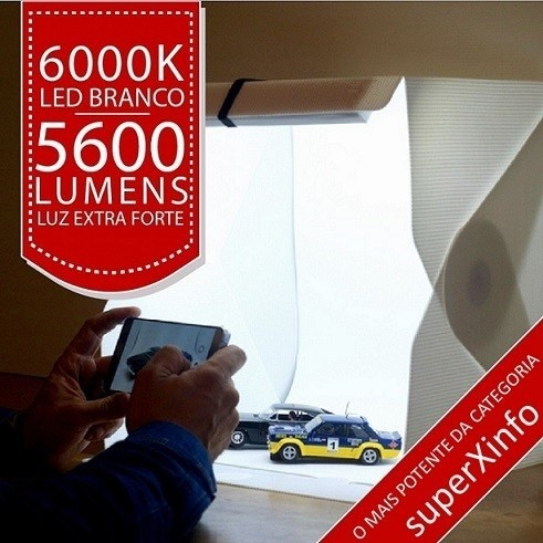 Mini Estúdio 54 Leds 6000k O Mais Potente da Categoria - Insta Super