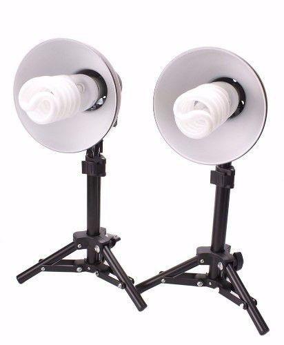 Kit Mini Estúdio Fotográfico Completo Com Tenda De 60x60cm + Kit De Iluminação PK-L45 220v