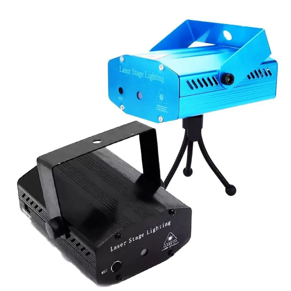 Mini Laser Projetor Holográfico Stage Lighting Preto E Azul - SD-120