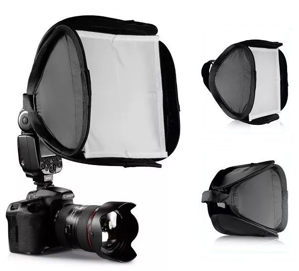 Mini Softbox Difusor Para Flash SpeedLight 23x23cm Mini Softbox  - PK-EFS23