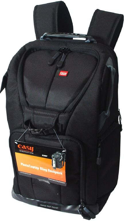 Mochila Easy Original Para Câmera Fotográfica Digital - EC-8805 Preta