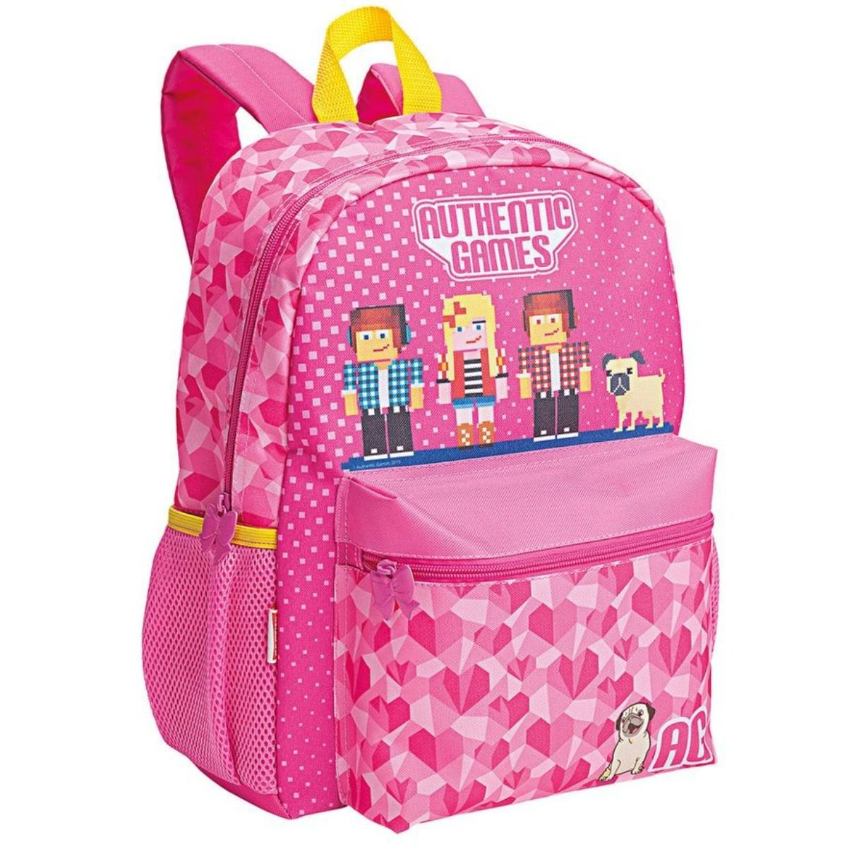 Mochila Escolar Infantil Feminina Authentic Games Lídia 20M Rosa Sestini - 065575-00