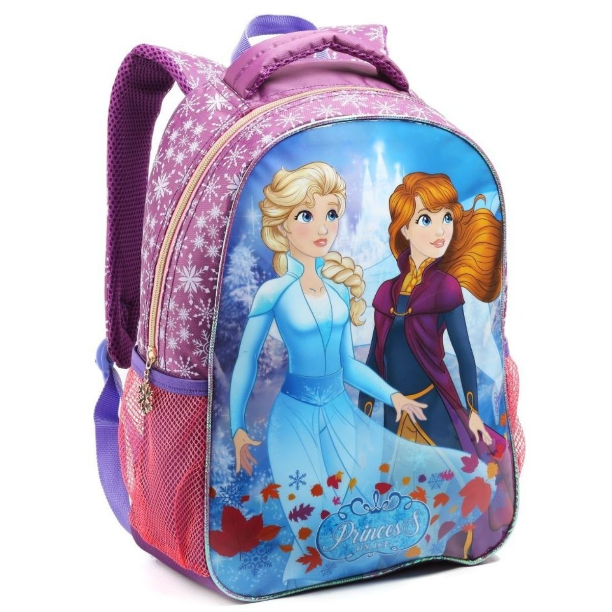 Mochila Infantil Feminina Princess On Ice Escolar Seanite - MI14545