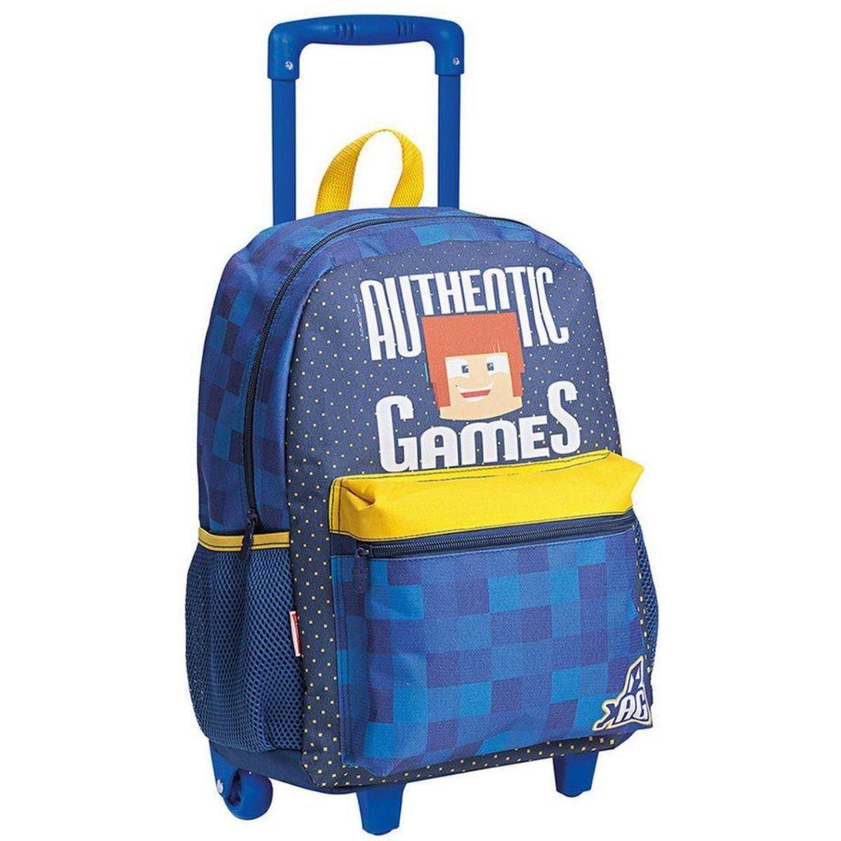 Mochila Mochilete Escolar Infantil De Rodinha Authentic Games 20M Sestini - 065570-00
