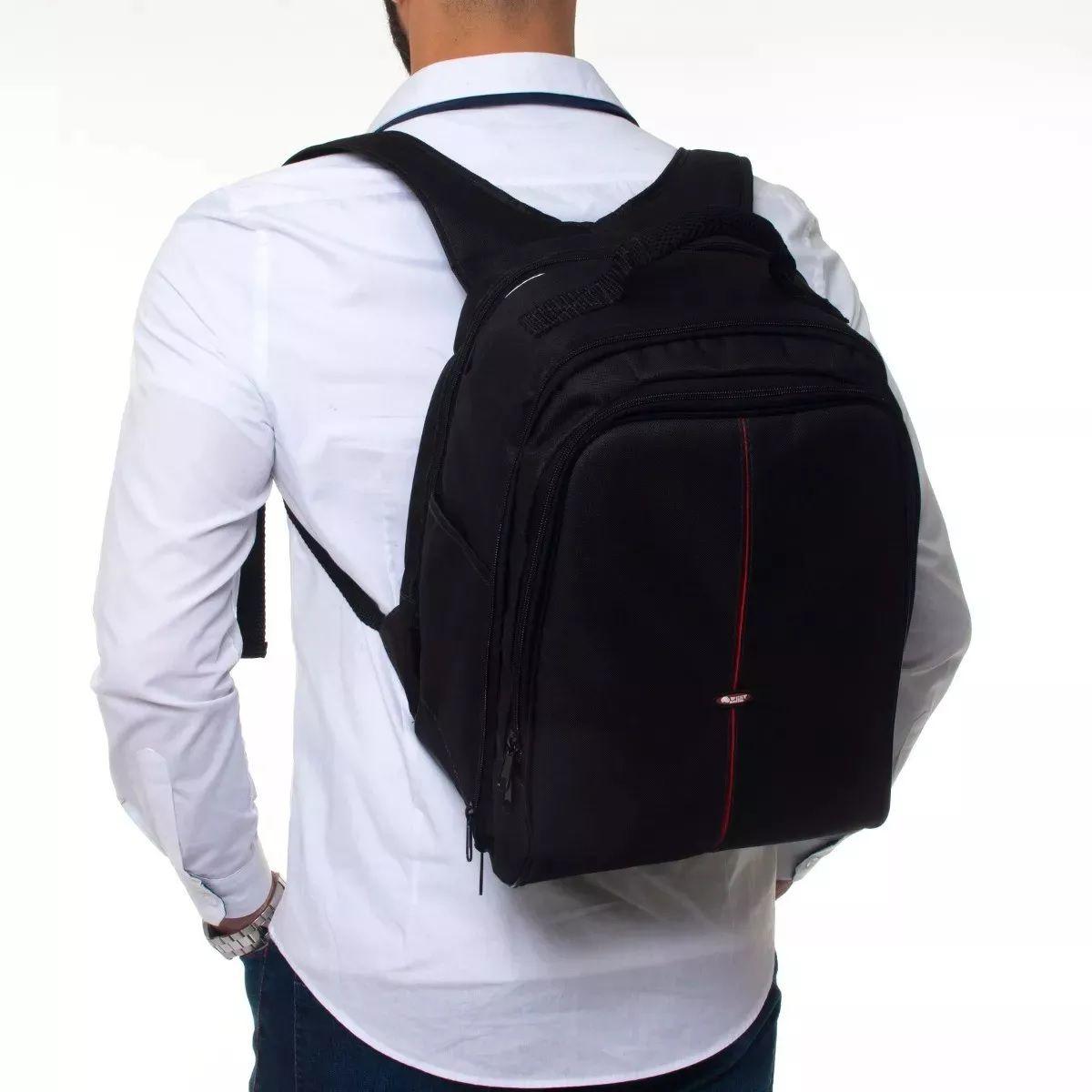 Mochila Para Câmera E Fotografia Com Compartimento Para Notebook  Até 14 polegadas Com Suporte Tripé - Vmb II