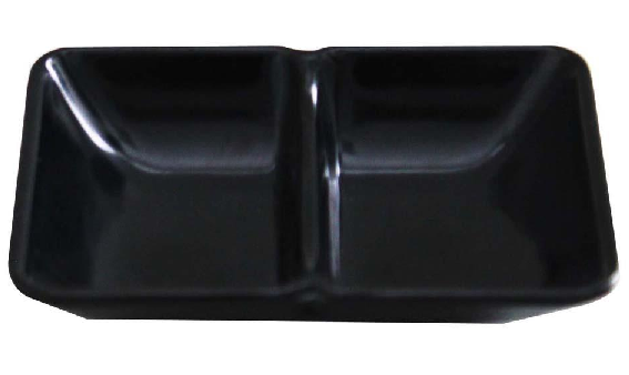 Molheira Dupla 10cm 60ml Melamina Preta Brinox - 0421-012