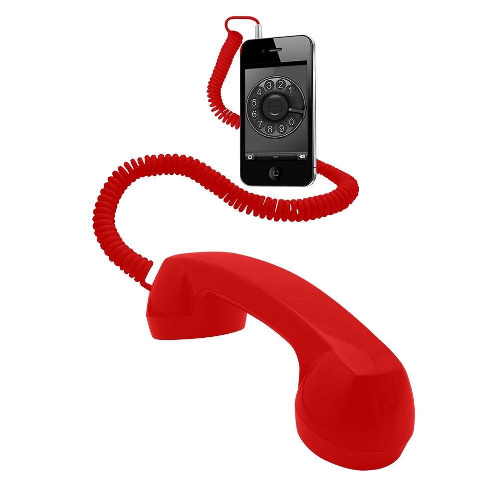 Monofone Vivitar Para Conexão Em Celulares - IPH20788 VERMELHO