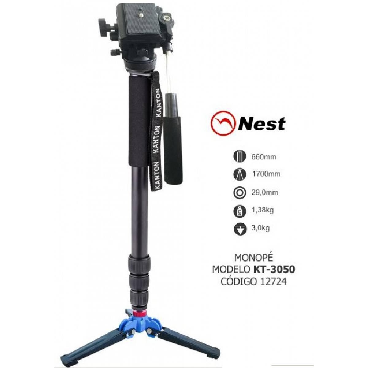 Monopé Nest Para Câmera Fotográfica E Filmadora - KT-3050