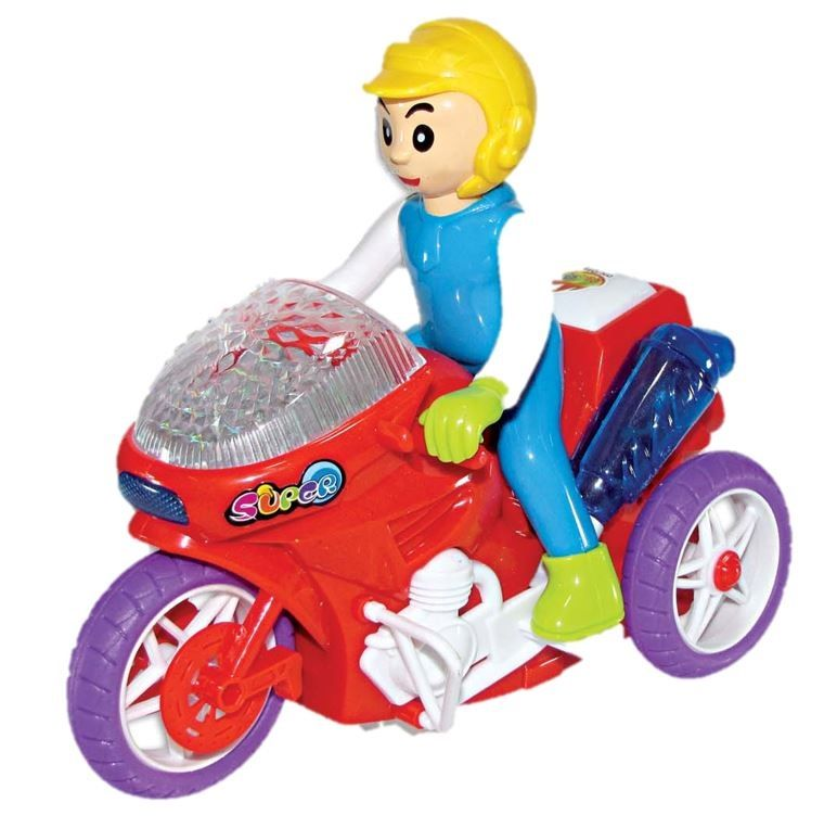 Moto Luz Mágica Supica Brinquedo Com Luz Música e Sons - 980