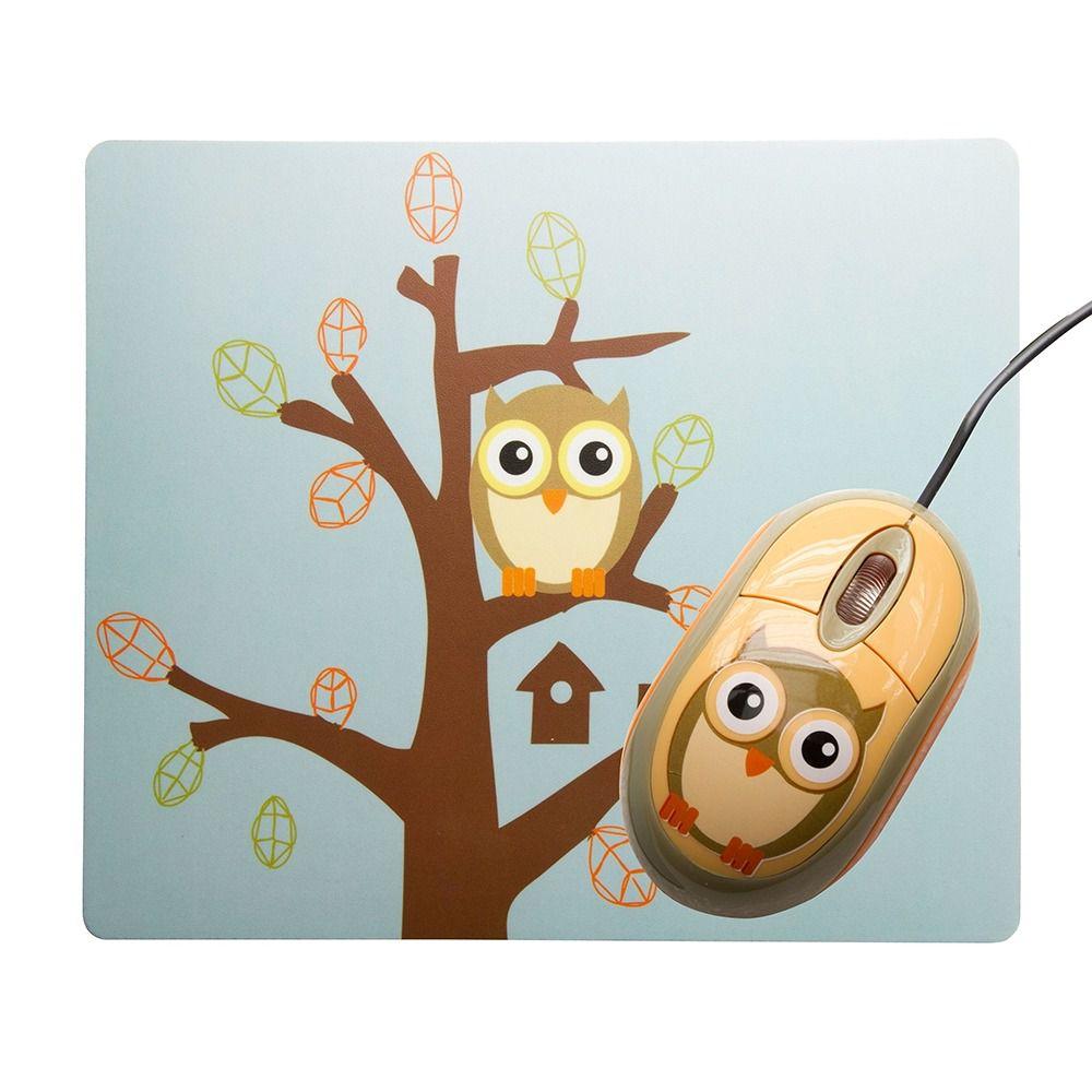 Mouse e Mousepad Sakar Animado De Coruja - GZ1011