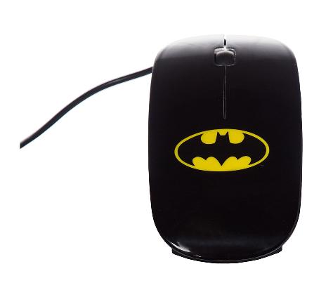 Mouse Plástico Batman Dc Preto 9 X 5 X 3 Cm - 63005486