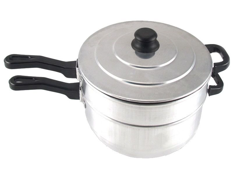 Panela Derretedeira Banho Maria 2,5kg Alumínio + Termômetro Digital Culinário