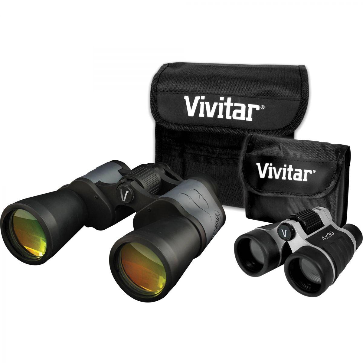 Par De Binóculos Vivitar Zoom 8x50 E 4x30 - VIV-VS-843