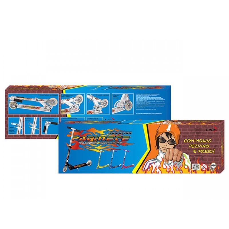 Patinete Em Aluminio Lotus Azul Com Amortecedor e Freio - TR-1017