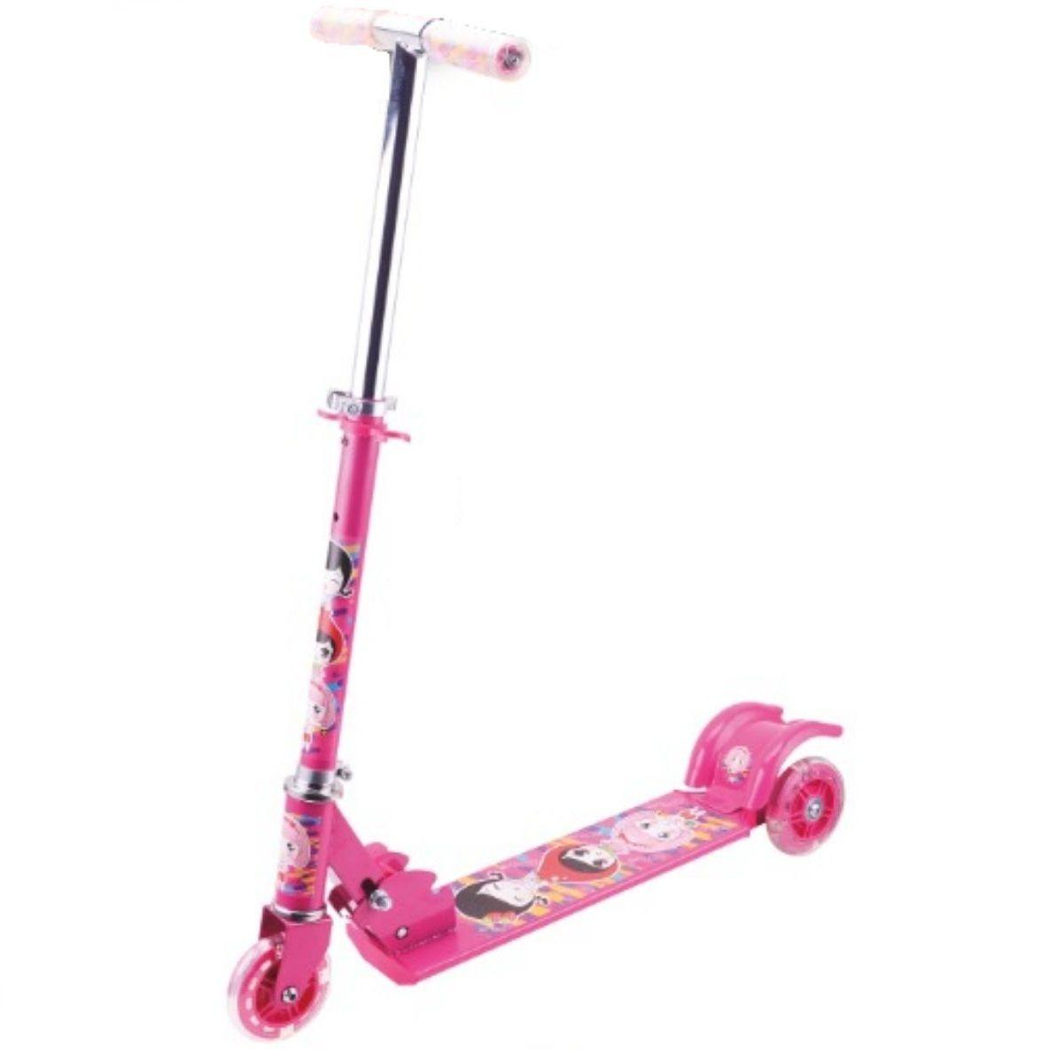 Patinete Infantil Para Meninas Rosa Com 3 Rodas - YTS-01RO-LX