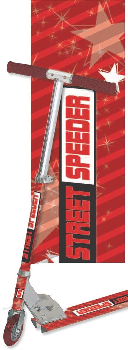 Patinete Infantil Vermelho Em Aluminio E Ferro Street Speeder - 0053VM
