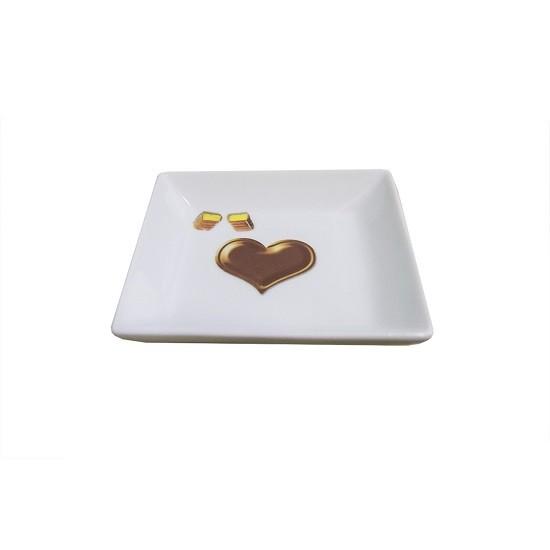 Petisqueira Chocolate Detalhes 12 X 12 CM Becanfil - 20054