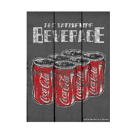 Placa Mad Coca-cola Six Pack Cans Fd Cinza - 85026934